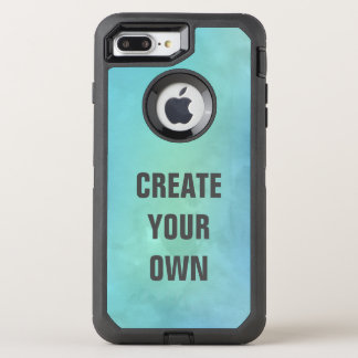 Create Your Own Turquoise Watercolor Painting OtterBox Defender iPhone 8 Plus/7 Plus Case