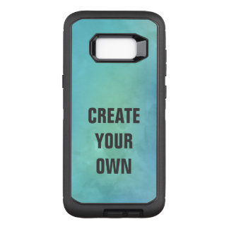 Create Your Own Turquoise Watercolor Painting OtterBox Defender Samsung Galaxy S8+ Case