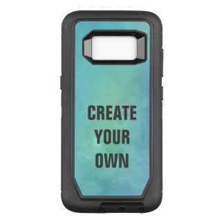 Create Your Own Turquoise Watercolor Painting OtterBox Defender Samsung Galaxy S8 Case