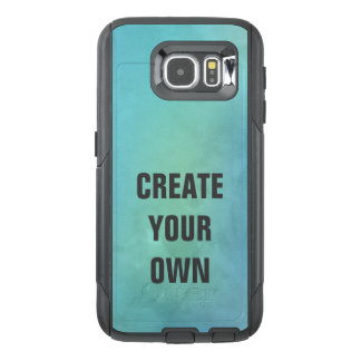 Create Your Own Turquoise Watercolor Painting OtterBox Samsung Galaxy S6 Case