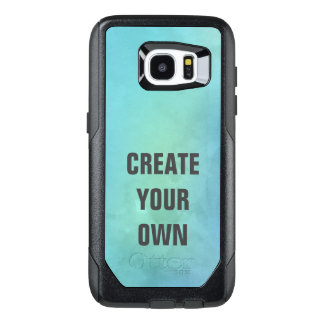 Create Your Own Turquoise Watercolor Painting OtterBox Samsung Galaxy S7 Edge Case