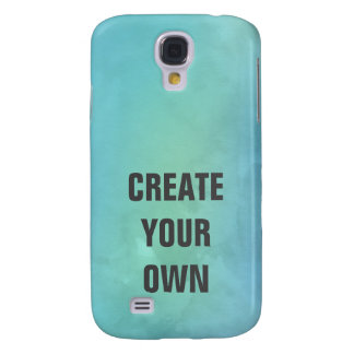 Create Your Own Turquoise Watercolor Painting Samsung Galaxy S4 Cases