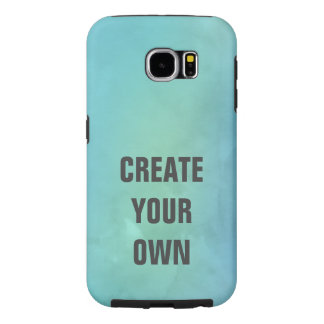 Create Your Own Turquoise Watercolor Painting Samsung Galaxy S6 Cases