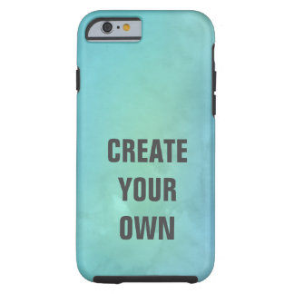 Create Your Own Turquoise Watercolor Painting Tough iPhone 6 Case