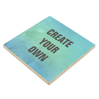 Create Your Own Turquoise Watercolor Painting Wood Coaster