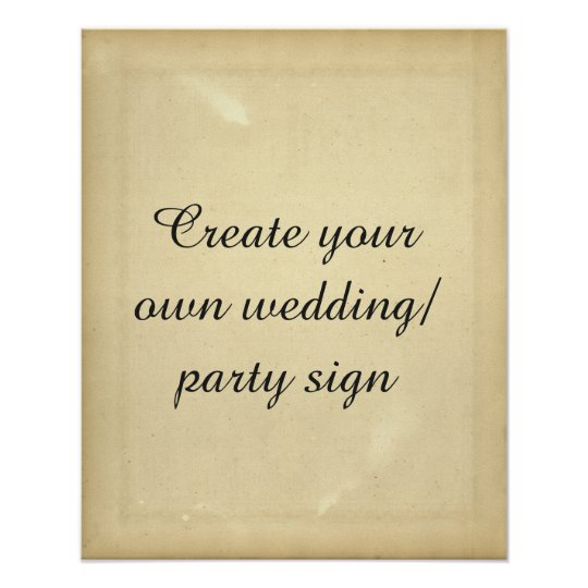Create your own vintage style party sign