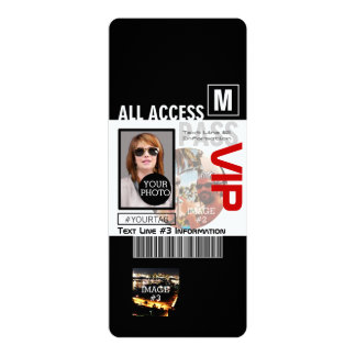 Create Your Own VIP Pass 8 ways to Personalize! 10 Cm X 24 Cm Invitation Card