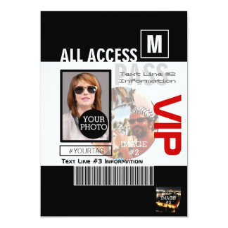 Create Your Own VIP Pass 8 ways to Personalize 13 Cm X 18 Cm Invitation Card