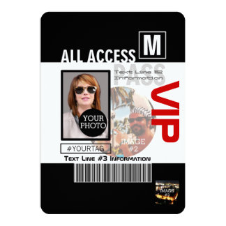 Create Your Own VIP Pass 8 ways to Personalize! 13 Cm X 18 Cm Invitation Card