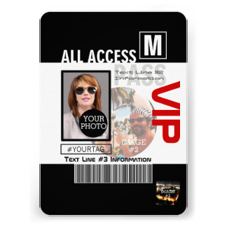 Create Your Own VIP Pass 8 ways to Personalize Invitation