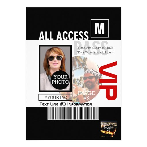 Create Your Own VIP Pass 8 ways to Personalize! Invites