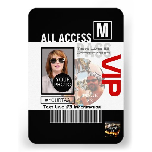 Create Your Own VIP Pass 8 ways to Personalize! Personalized Invites