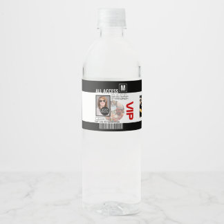 Create Your Own VIP Pass 8 ways to Personalize it Water Bottle Label