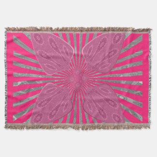 Create Your own Vivid pink.spades design Throw Blanket
