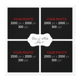 Create Your Own Wedding Photo Collage 003 Gallery Wrapped Canvas
