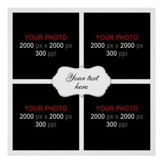Create Your Own Wedding Photo Collage 003 Poster