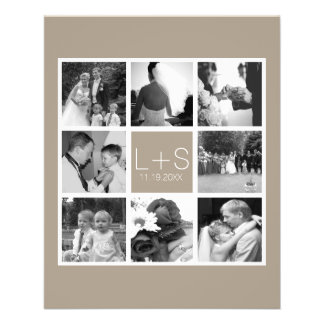 Create Your Own Wedding Photo Collage Monogram 11.5 Cm X 14 Cm Flyer