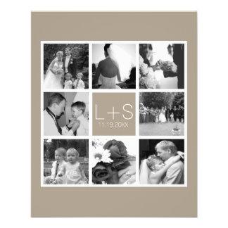 Create Your Own Wedding Photo Collage Monogram 11.5 Cm X 14 Cm Flyer