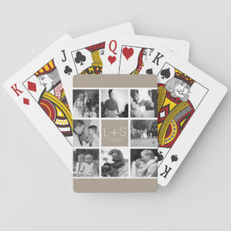 Create Your Own Wedding Photo Collage Monogram Deck Of Cards