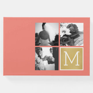 Create Your Own Wedding Photo Collage Monogram Guest Book