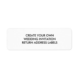 Create Your Own Wedding Return Address Labels
