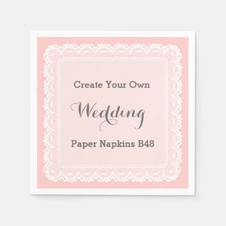 Create Your Own White Lace Look Paper Napkins 48