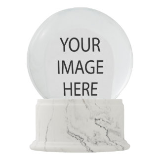 Create Your Own White Marble Finish Arch Snowglobe