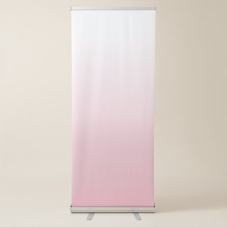 Create Your Own White Ombre Background Retractable Banner