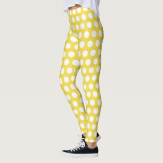 Create Your Own White Polka Dot Leggings