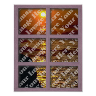 Create Your Own Window With Pink 6 Panel Frame Poster
