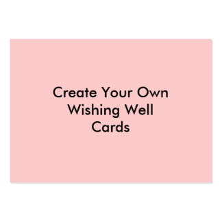 Create Your Own Wishing Well Cards Pink Pack Of Chubby Business Cards