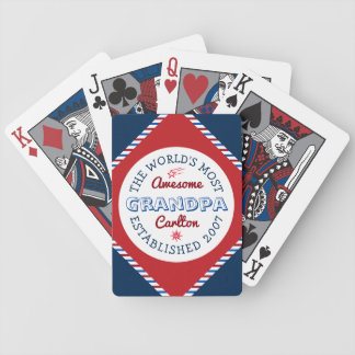 Create Your Own World's Most Awesome Grandpa Logo Bicycle Playing Cards