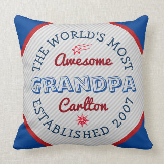 Create Your Own World's Most Awesome Grandpa Logo Cushion