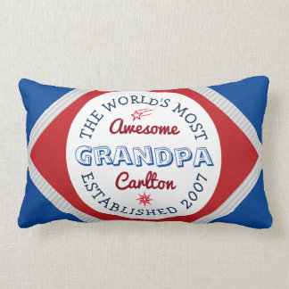 Create Your Own World's Most Awesome Grandpa Logo Lumbar Cushion
