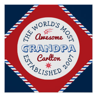 Create Your Own World's Most Awesome Grandpa Logo Poster