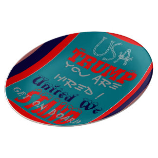 Create Your Own You Are Hired United We Stand Porcelain Plates