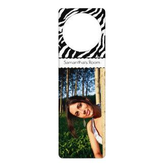 Create Your Own Zebra Pattern Custom Door Hanger