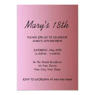 Create Your Pink Birthday Invitation