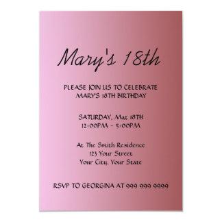 Create Your Pink Birthday Invitation