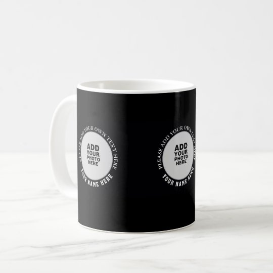 create your special three images black coffee mug