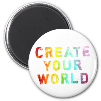 Create Your World 6 Cm Round Magnet