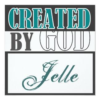 Created by God-Jongen 13 Cm X 13 Cm Square Invitation Card