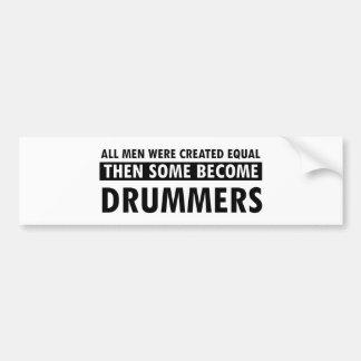 Created equally drummer design bumper sticker