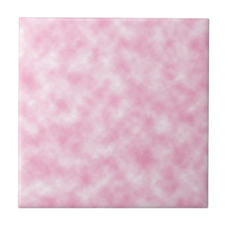 Created Pink Clouds Design Small Square Tile