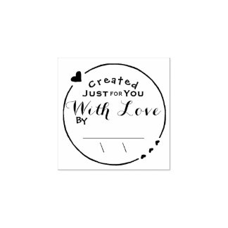 Created with Love Artwork Signature with Date Rubber Stamp