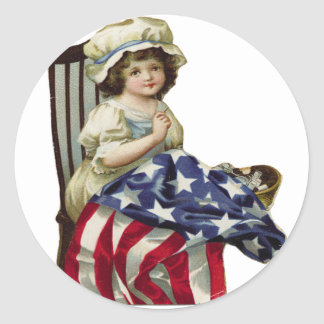 Creating the Flag Classic Round Sticker
