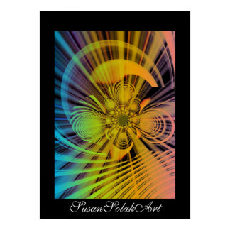 Creation Digital Abstract Poster