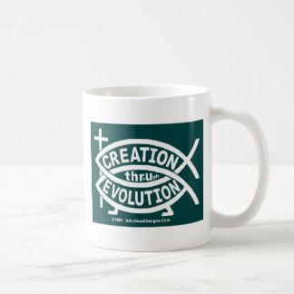 Creation Evolution Coffee Mugs