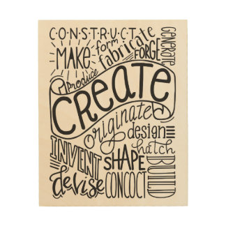 Creation Motivation Wood Print