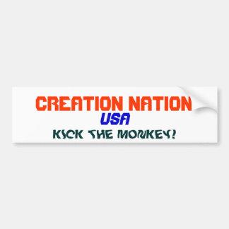 CREATION NATION BUMPER STICKER